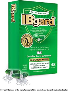 IBgard® for Irritable Bowel Syndrome (IBS) Symptoms Including, Abdominal Pain, Bloating, Diarrhea, Constipation, 48 Capsules