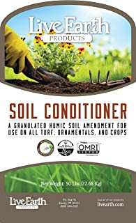 Live Earth Products Humate Soil Conditioner, 50 lbs. Bag
