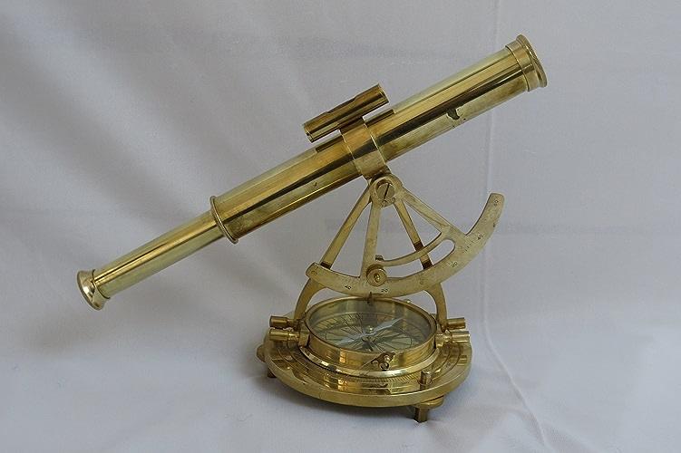 Laiton Alidate Boussole avec télescope et base Nauticalmart