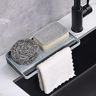 YOHOM Sponge Holder Kitchen Sink Organizer Tray Counter Suction Cup Dishcloths Rag Hanger Soap Dispenser Scrubber Dishwash...