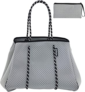 QOGiR Multipurpose Gym Beach Bag - Light Weight, Large, Sports (Grey, Large)