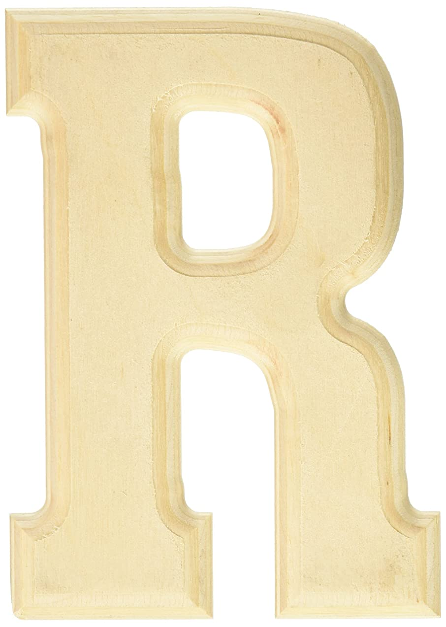 MPI Baltic Birch University Font Letters and Numbers, 5-Inch, Letter-R