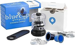 Bluecup Cápsulas Reutilizables Nespresso Cafeteras, Recargables Compatibles con Nespresso Máquinas, 2 Cápsulas Rellenables...