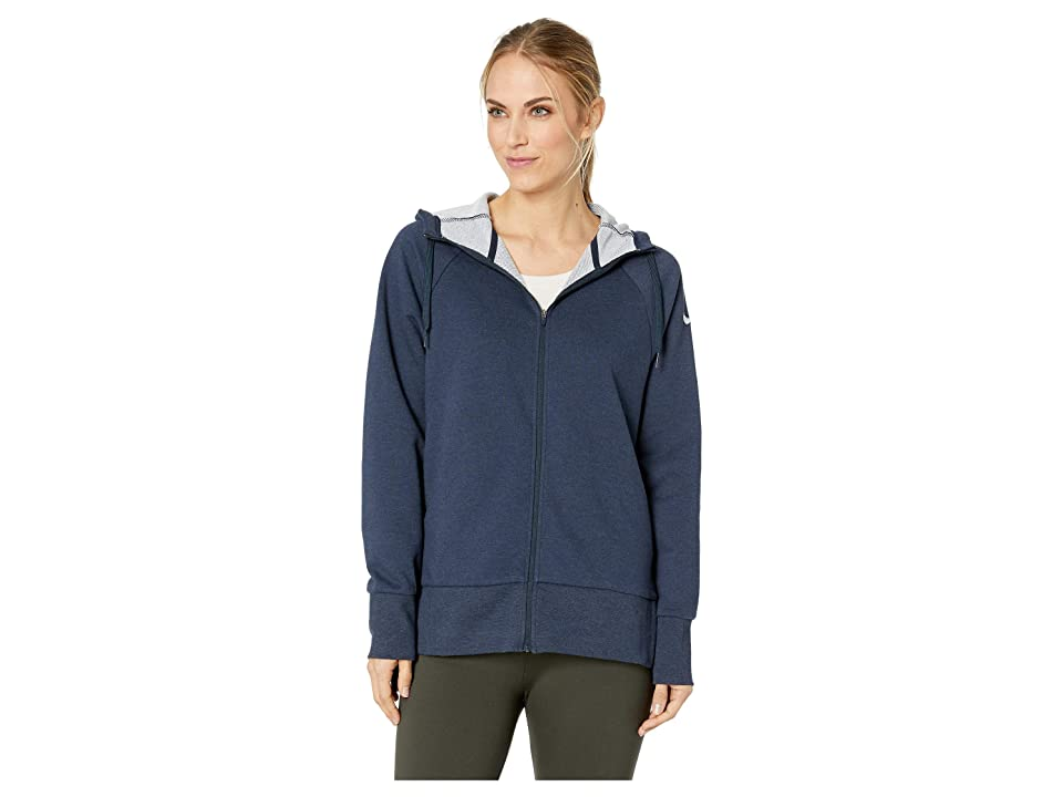 Nike Dry Full Zip Hoodie (Obsidianheather/Igloo) Women