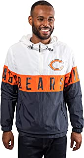 Ultra Game NFL Men's Quarter Zip Hoodie Windbreaker Jacket