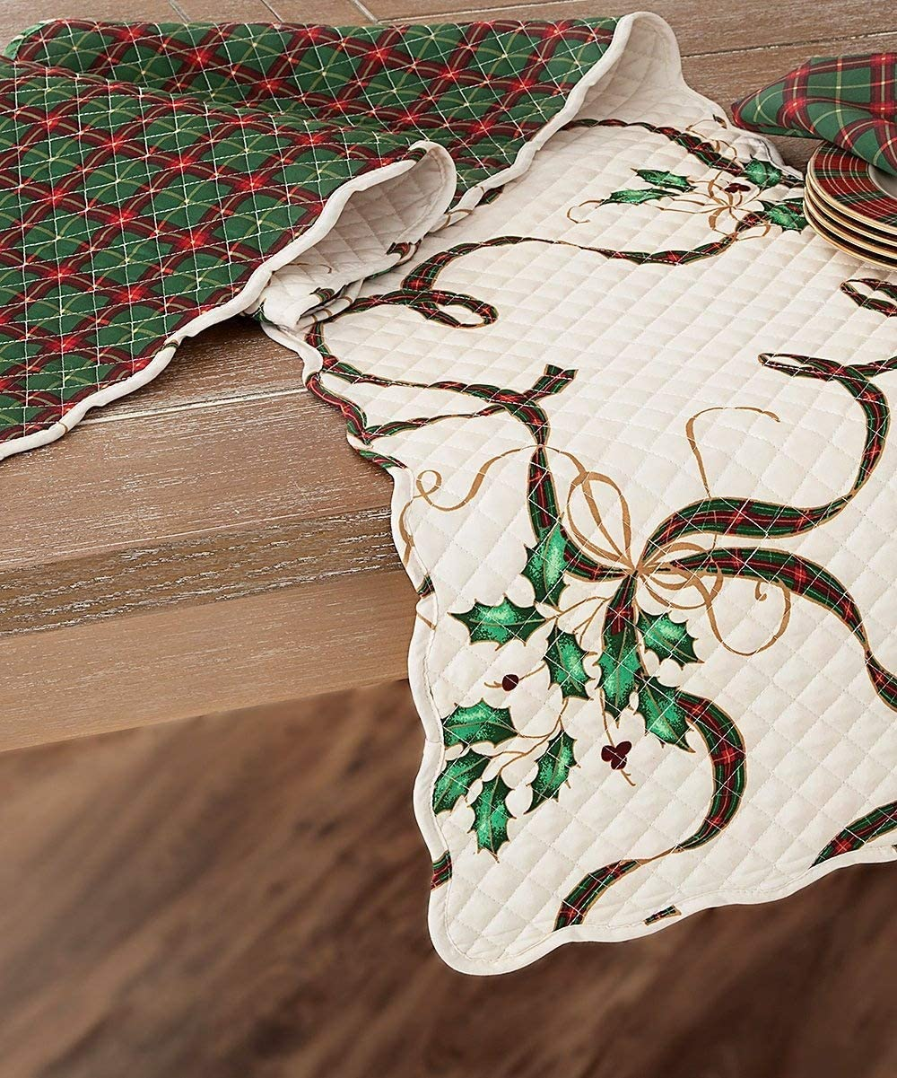 Lenox OFFicial site Holiday Nouveau Quilted Reversible Table Runner Free shipping on posting reviews 70