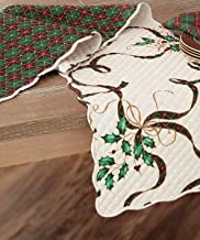 """Lenox Holiday Nouveau Quilted Reversible Table Runner 14"""" X 70"""""""