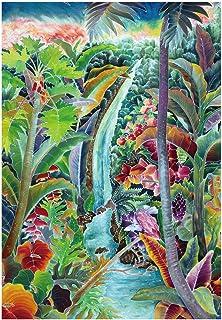 「サラッとドライ ハワイアンバスタオル」 アカカの滝 光触媒マイクロファイバー 90㎝×130㎝ アスカタオル 抗菌・消臭タオル 1SP-AKK