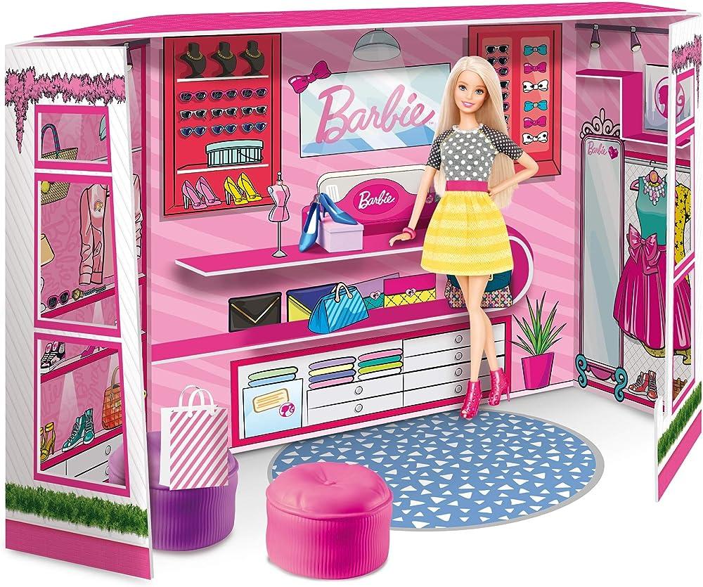 Lisciani giochi, barbie fashion boutique con doll 76918