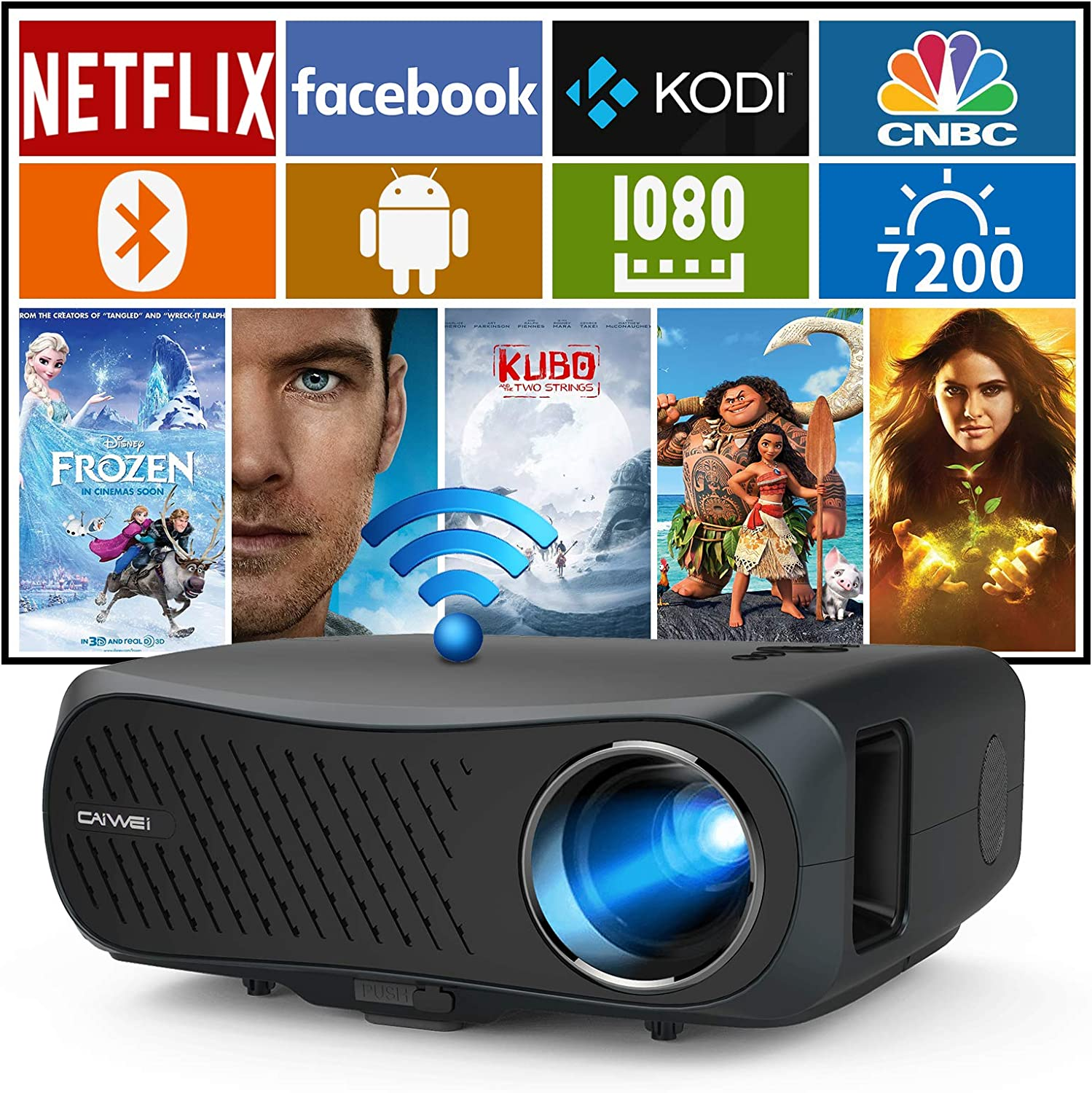 7200Lumen Wireless 5G WiFi Projector HD Limited price sale 1080P Native Full Suppor Large-scale sale