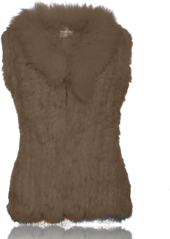 HEIZZI Nippon regular agency Genuine Rabbit Fur Vest free shipping Fox Soft Collar with