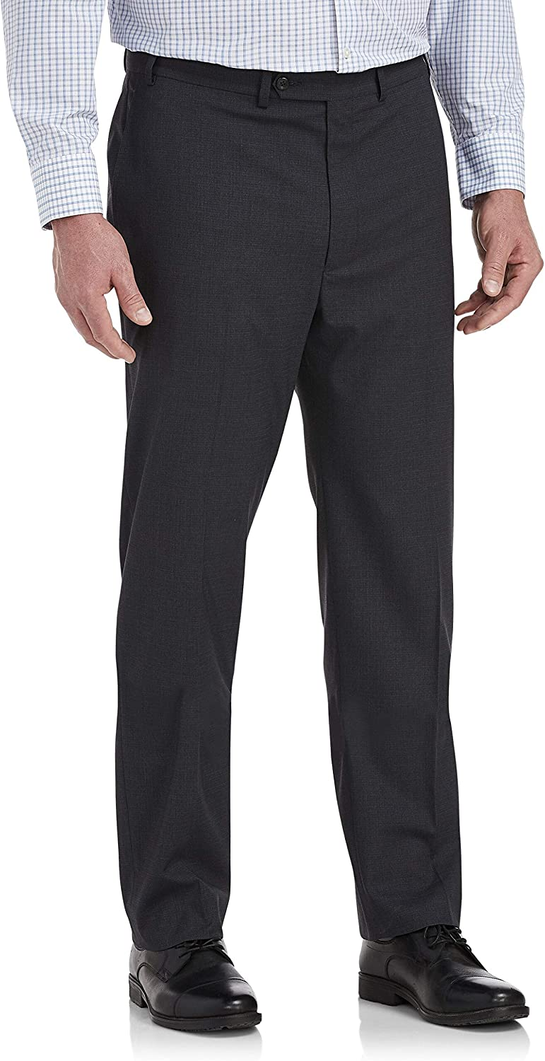 DXL Gold Series Big and Tall Easy Stretch Grid Pants, Charcoal