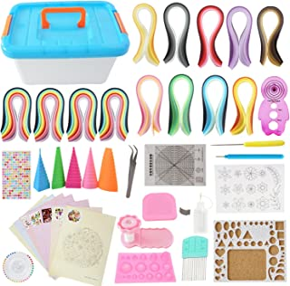 All-in-One Quilling Kit Complete Quilling Paper Set with 1940 Strips + Necessary Tools + Storage Box Suitcase for Beginners, Advanced Quiller, Kids and Adults