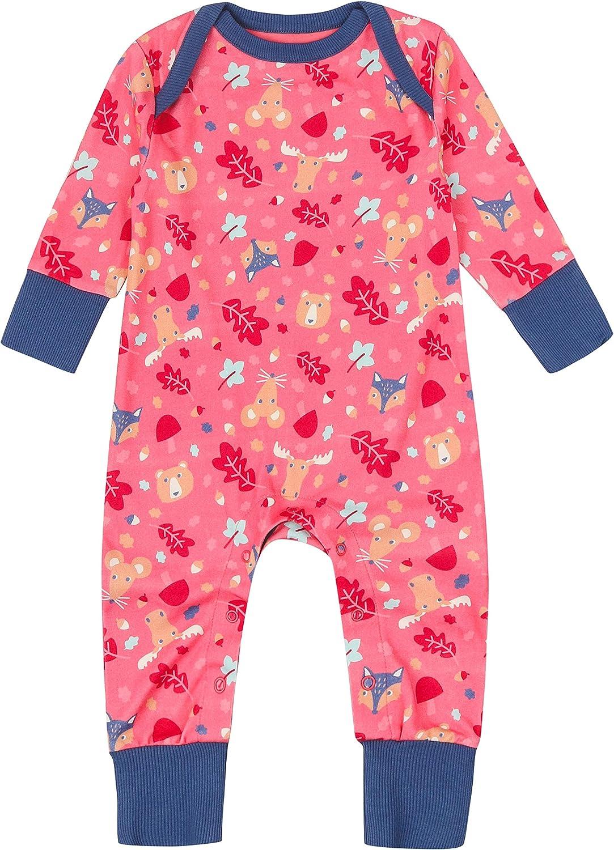 Pijama de bebé sin pies, color rosa con pies plegables + ...