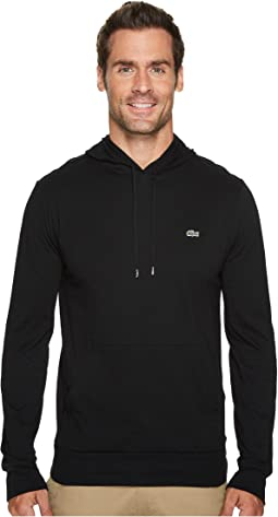 Black Lacoste Zip Up Hoodie
