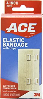 ACE Elastic Bandage with Clips, 4