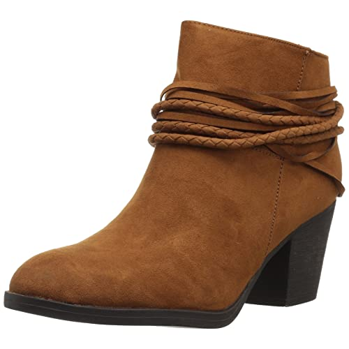 bce3060813e Womens High Heeled Strappy Chunky Heel Ankle Booties