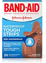 Band-Aid Brand Tough-Strips Waterproof Adhesive Bandages, Durable Protection for Minor..