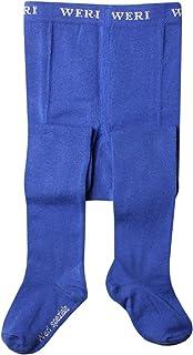 Weri Spezials Baby e bambini collant Tinta Unita liscia in grano blu