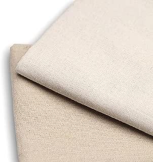 生地 リネン 麻 布 ハンドメイド 手芸 裁縫 用 無地 生成り 刺繍 幅155cm 1m 2m 3m 4m 5m (白よりのベージュ 1m)