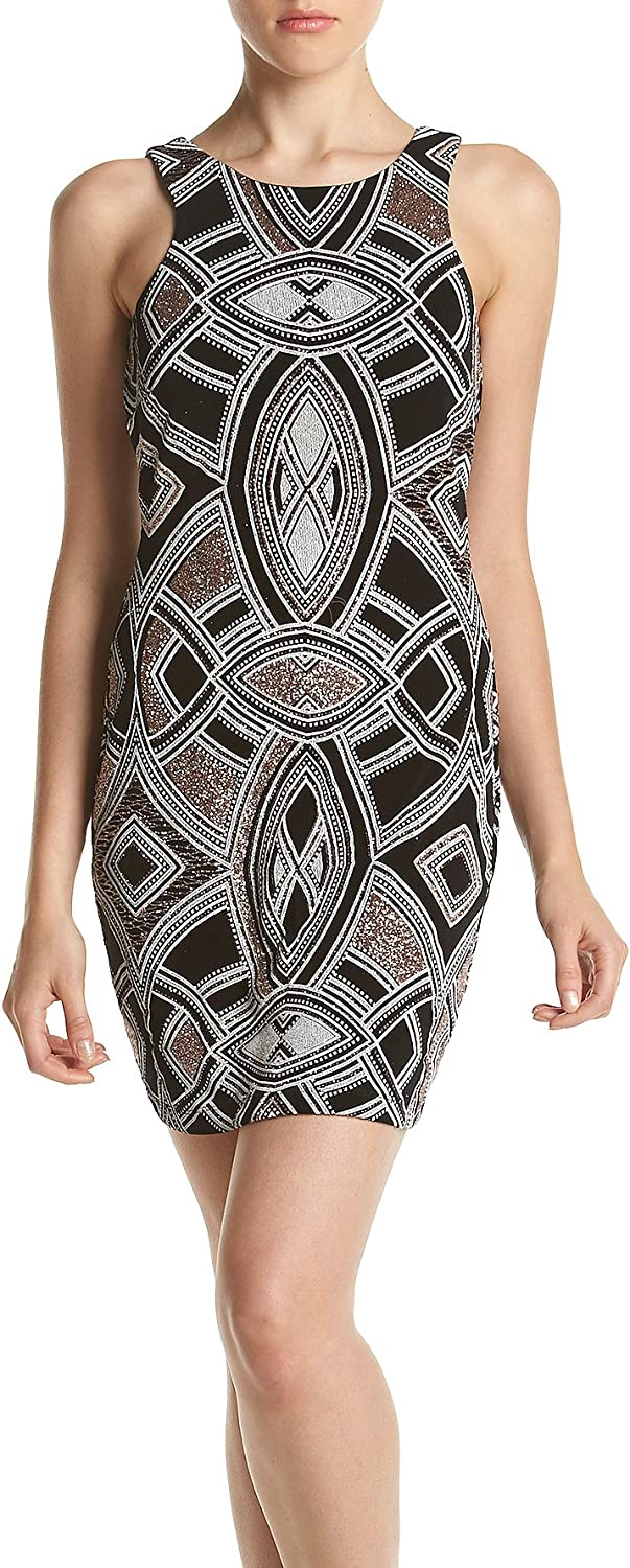 Speechless Juniors Printed Silky Knit Bodycon