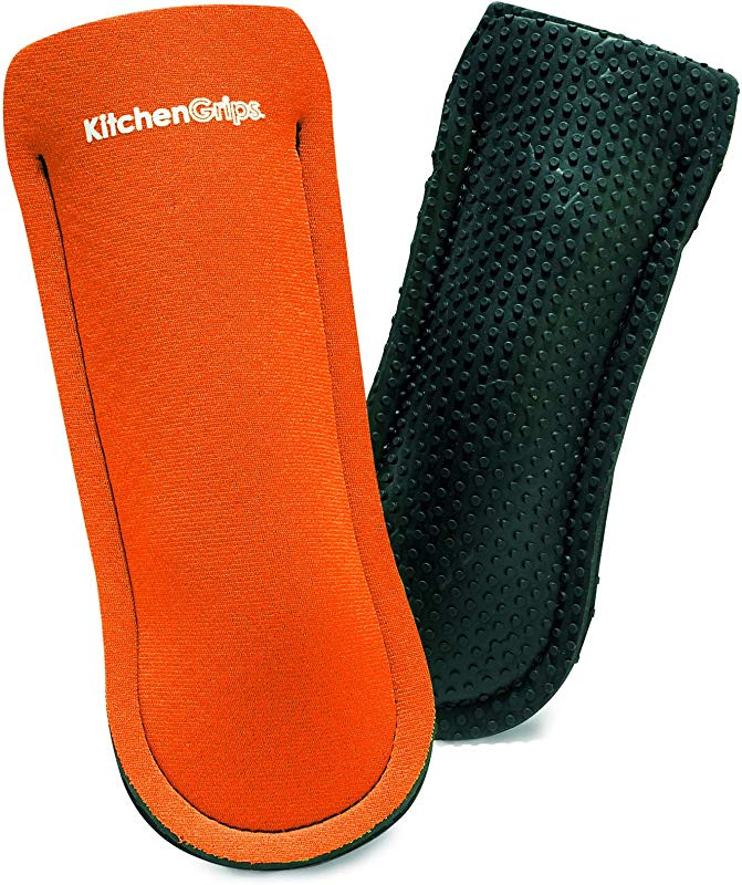 Kitchen Grips 2 Piece Pan Holder Set Orange Black