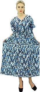 Phagun Long Maxi Caftan Cotton Bohemian Kaftan Nightwear Printed Dress