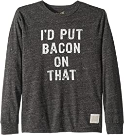 Vintage Tri-Blend Long Sleeve I'D Put Bacon On That Tee (Big Kids)