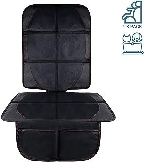AresKo Autositzauflage, Kindersitzunterlage mit Schaumstoff Gepolsterte Sitzschoner Auto Kindersitz Anti Rutsch Anti Kratz Flecken Schutz Organizer Taschen, Autositzschoner Universalgröße