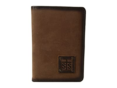 STS Ranchwear Magnetic Wallet/Travel/Passport Case (Brown) Wallet Handbags