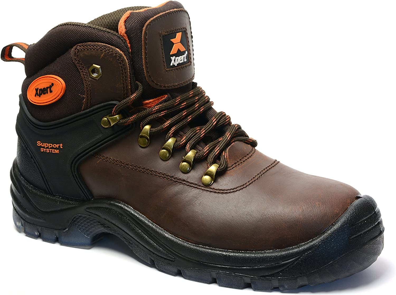 Xpert XP510 Warrior SBP Mens Brown Safety Hiker Steel Toe Safety Boots