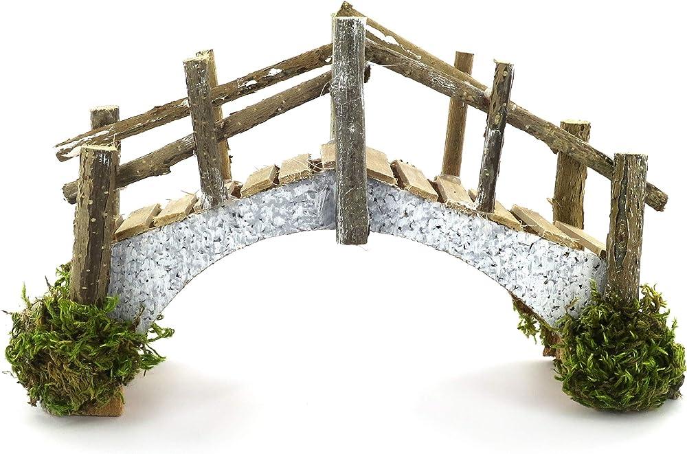 Ferrari & arrighetti ponte in sughero e assi di legno,paesaggio del presepe Bertoni_586G