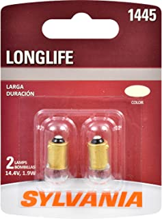 SYLVANIA - 1445 Long Life Miniature - Bulb, Ideal for Ash Tray, Glove Box and More. (Contains 2 Bulbs)