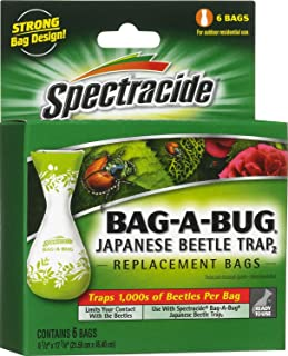 Spectracide Bag-A-Bug Japanese Beetle Trap2 (6 Replacement Bags) (HG-56903) (2 Pack of 6 Bags)