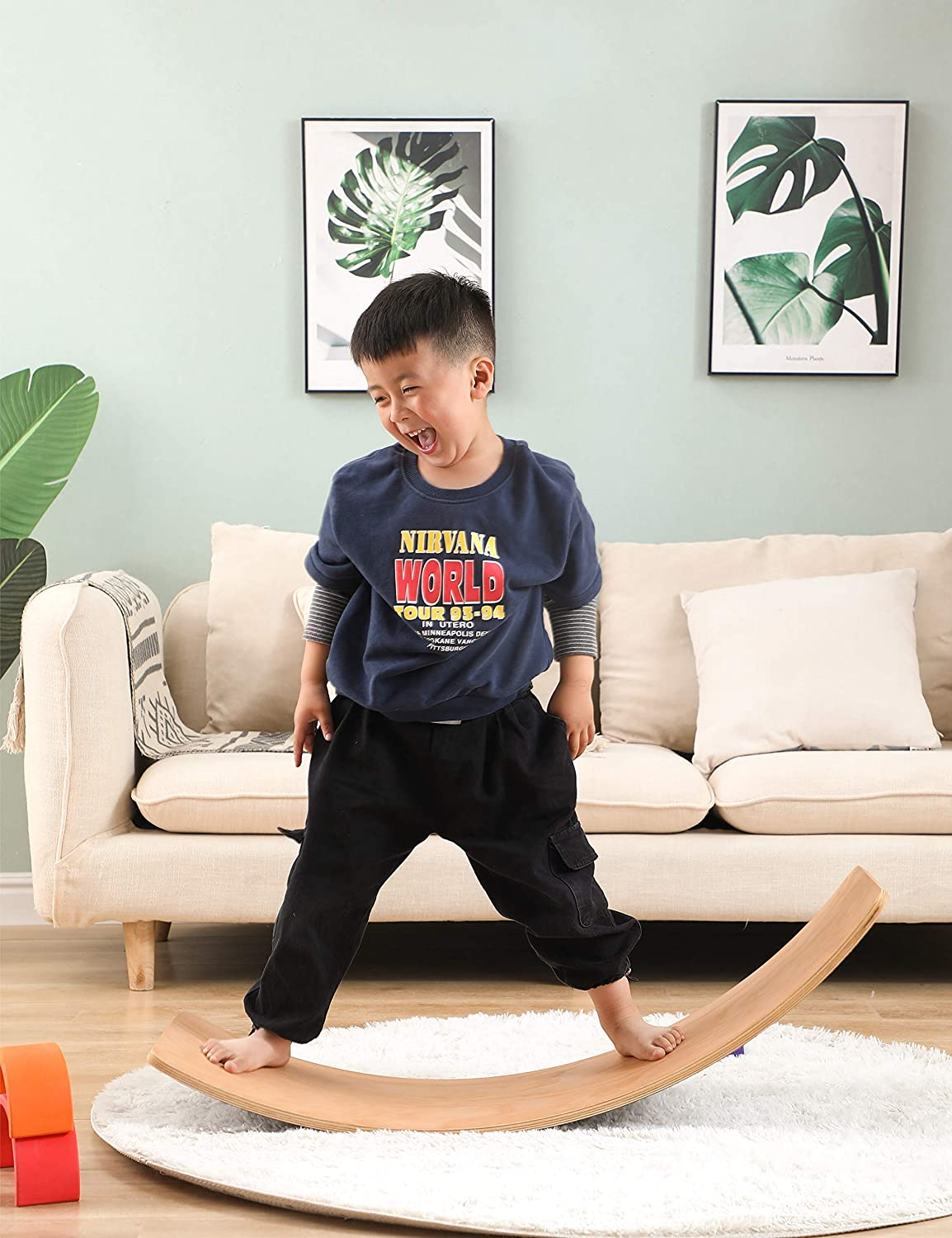 Wooden Wobble Balance Board Games Toys Sale special Popularity price Body Toddler Tr for