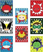 Kid's Playroom Decor, Superheros Eight 08x10 Inch Print Set For Kids, Baby Boy Nursery Decor, Superman, Batman, Spiderman, Captain America, Superhero Wall Art, Marvel Wall Art