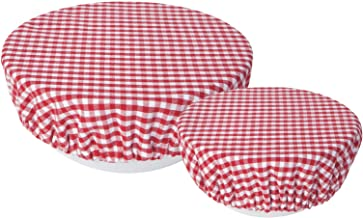 Now Designs Reusable Bowl Cover to Reduce Waste, Gingham - Large & Medium   Set of 2