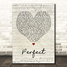 Perfect Script Heart Song Lyric Quote Wall Art Gift Print