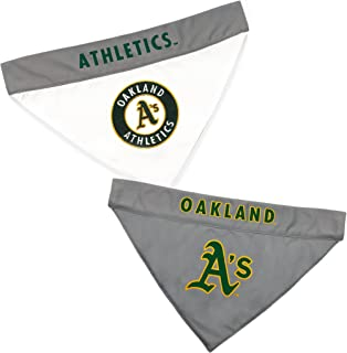 Pets First ATH-3217-L-XL MLB Oakland Athletics Reversible Pet Bandana, Large/X-Large, MLB Team Color
