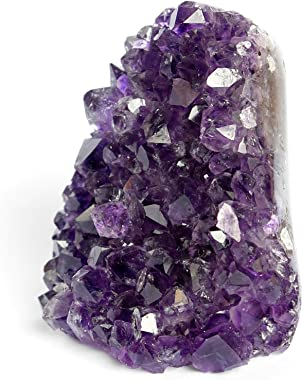 Huge A Grade Amethyst Crystal Geode from Uruguay 1.5 lb to 2.2 lb Premium Gift Box Perfect for Collectors