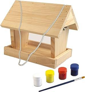 Windhager Kit de construcción de silo para alimento para Aves Woodpecker, estación de alimentación para pajareras, Incluyendo Plantillas, Beige, 06945