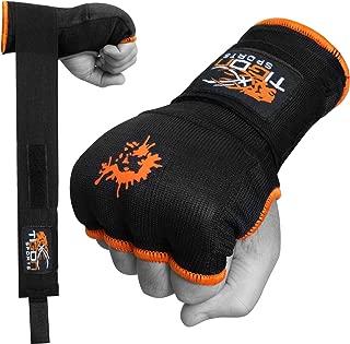 Tigon Boxing Gel Inner Gloves, Hand Wraps Bandages, Boxing Gloves, Cotton Bandages Pair MMA Punch bag Handwraps (Black)