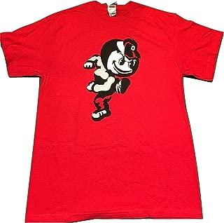 J. America Ohio State Buckeyes Vintage Running Brutus Red Tshirt