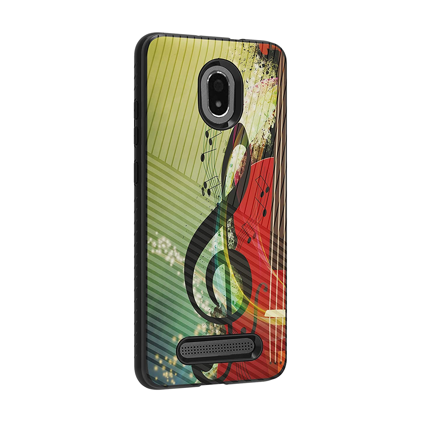 TurtleArmor | Compatible for Foxx Miro Case | FOXXD Miro Case | L590 | Slim Armor Hybrid Dual Layer Engraved Grooves Shell Case Music Design - Music Symbol Note qpxpqvghxyf3