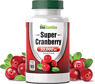 Cranberry Pills for Women & Men (30,000 MG x 90 Capsules) | Supports Urinary Tract Health* | Cranberry Concentrate Supplem...