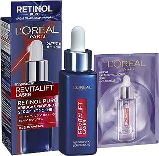 LOreal Paris Dermo Expertise Sérum de Noche Revitalift Laser con Retinol Puro Cuidado Antiedad Corrige Arrugas Profunda...
