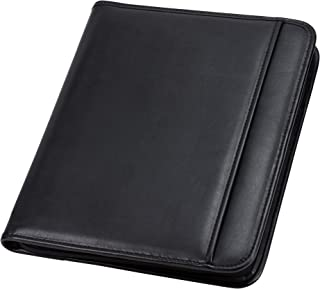 Samsill Professional Resume Padfolio with Secure Zippered Closure, 10.5 x 13 inches,..
