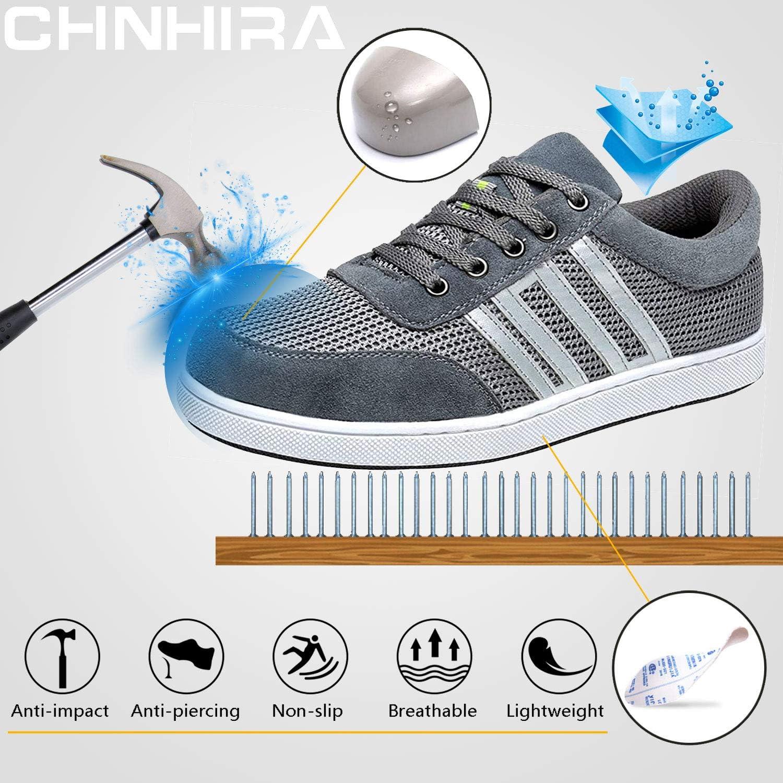 CHNHIRA Chaussure de S/écurit/é Homme Femme Embout Acier Protection Anti-Perforation Chaussure de Travail