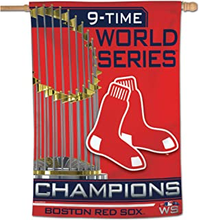 """WinCraft Boston Red Sox 2018 World Series Champions 28"""" X 40"""" Vertical Banner Flag"""