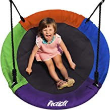 """40"""" Saucer Tree Swing for Kids Outdoor with Straps - Round Outdoor Swings for Swingset - Large Tree Swings for Children wi..."""